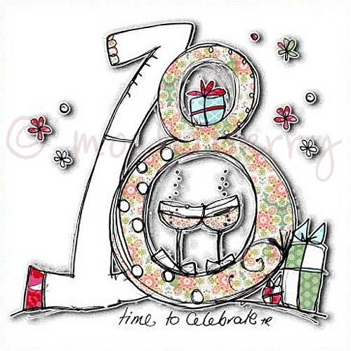18th birthday card this card has the number 18 and the words time to ...: www.mochaberry.co.uk/18th-birthday-card-284-p.asp