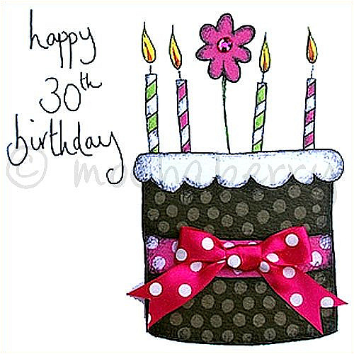 30th Birthday Birthday Greetings Card Happy Birthday 30th Wishes