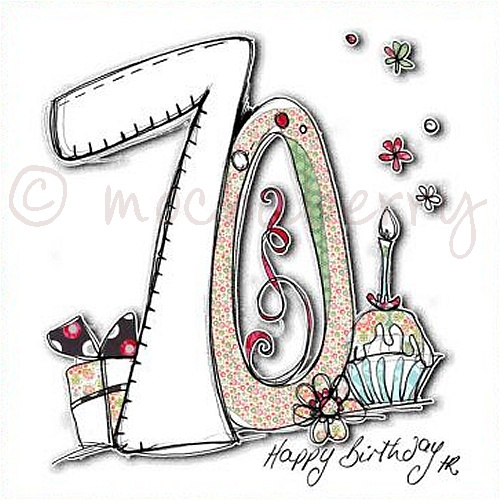 th birthday card  th birthday card  seventieth birthday card, Birthday card