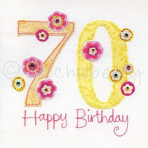 th birthday card  th greeting card  seventieth birthday card, Birthday card