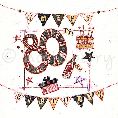 80th Birthday Card Vintage Birthday Cards – 80 Birthday Card