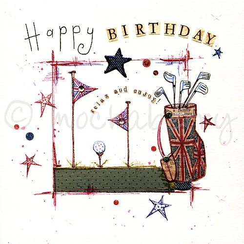 Happy Birthday Card Vintage Cards – Birthday Cards Golf