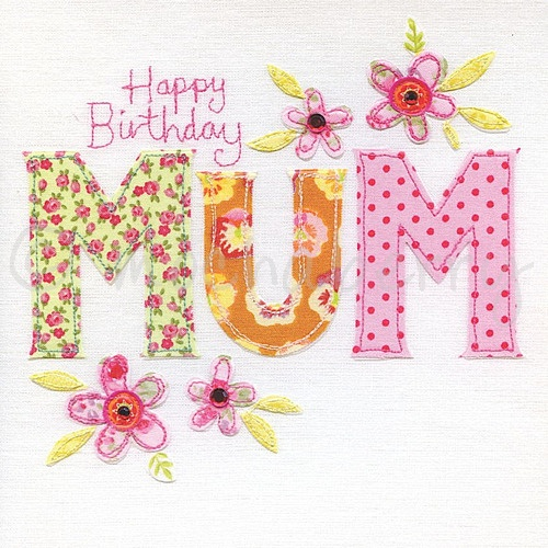 Embroidery Style Card Embroidery Card – 80th Birthday Cards for Mum