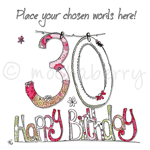 Personalised 30th Birthday Cards 30th Birthday Cards 30th Card