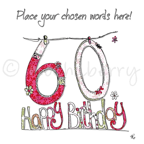 Personalised 60th birthday cards 60th birthday cards 60th card bookmarktalkfo Choice Image