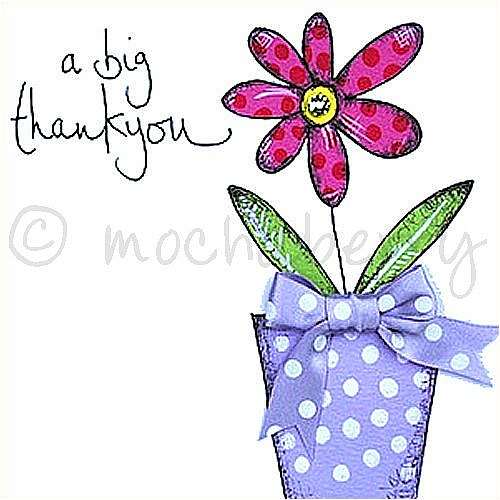 Thank you greetings card m4hsunfo
