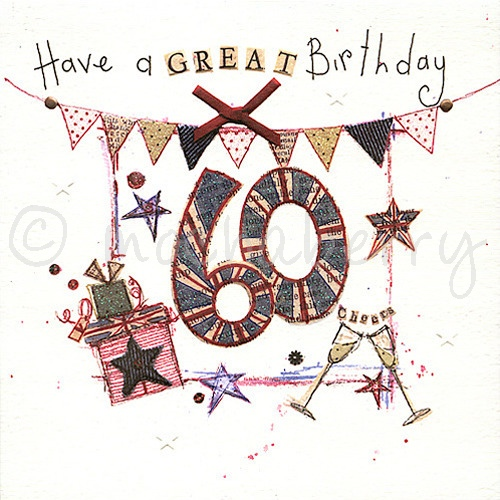 60th Birthday Card Vintage Birthday Cards Happy 60th