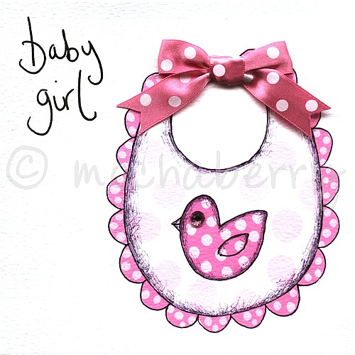 Baby girl greetings card m4hsunfo