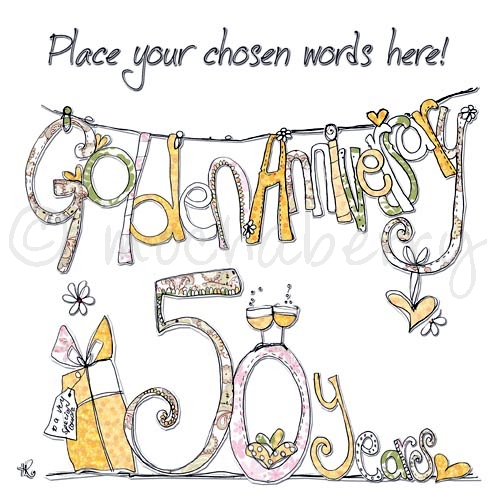 Personalised Golden Anniversary Cards | 50th Wedding Anniversary